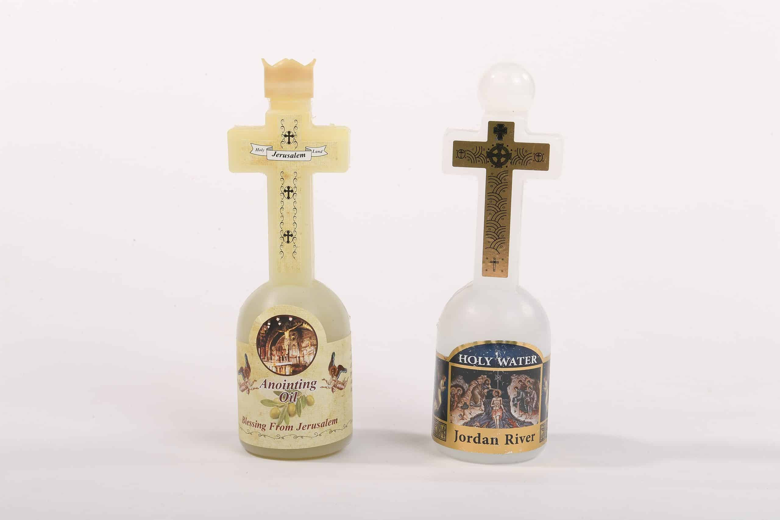 Holy Set - Holy Water from the Jordan River and Anointing oil Jerusalem olive