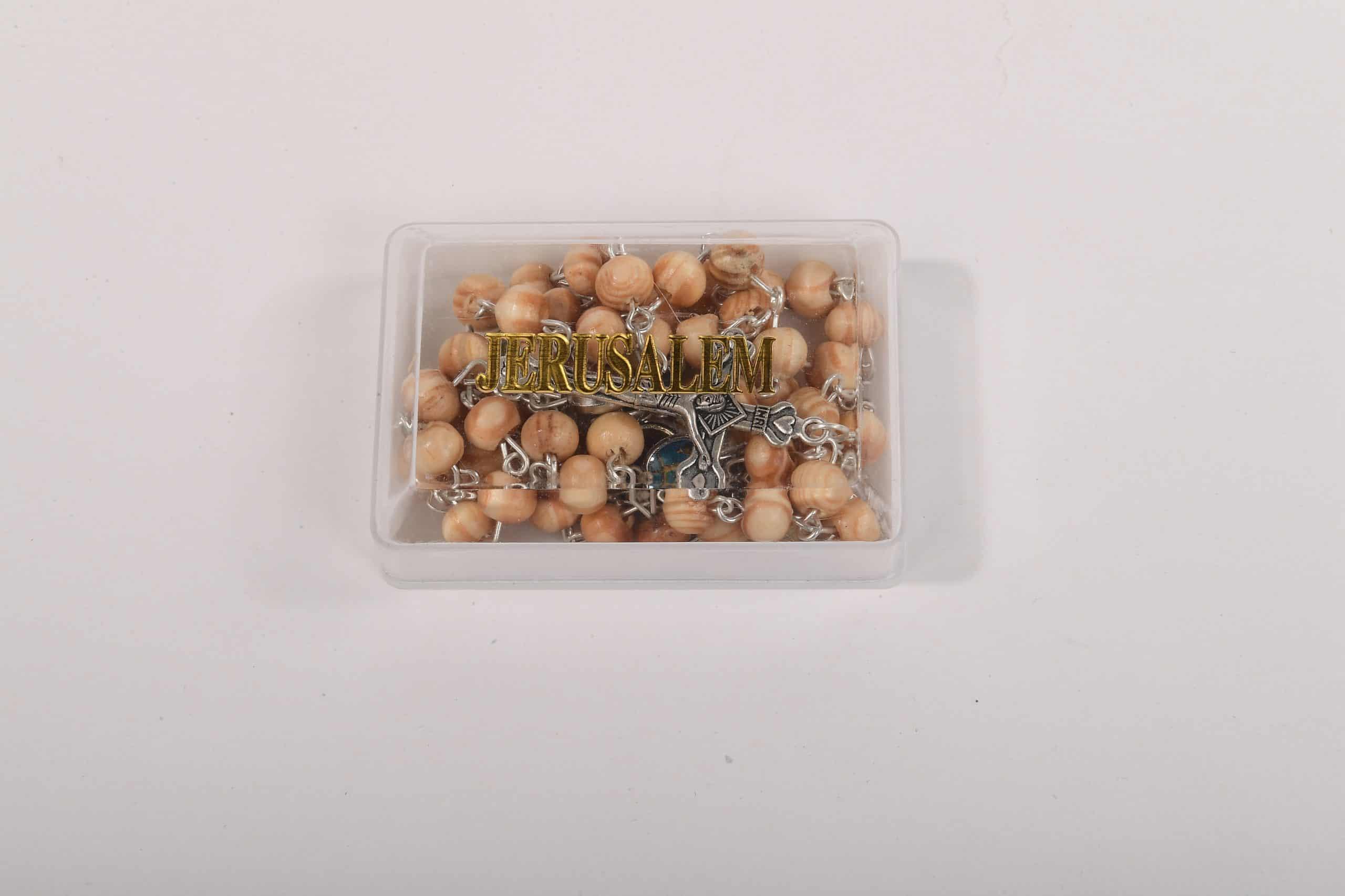 Olive Wood St. Benedict Catholic Rosary - Rosaries from Jerusalem