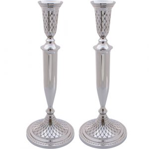 Nickel Silver Candlesticks