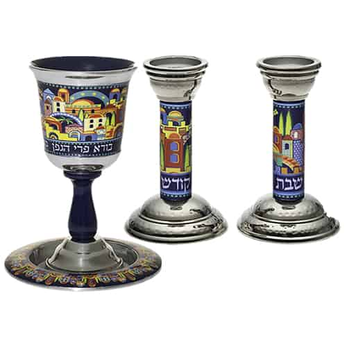 Aluminum Set: Kiddush Cup
