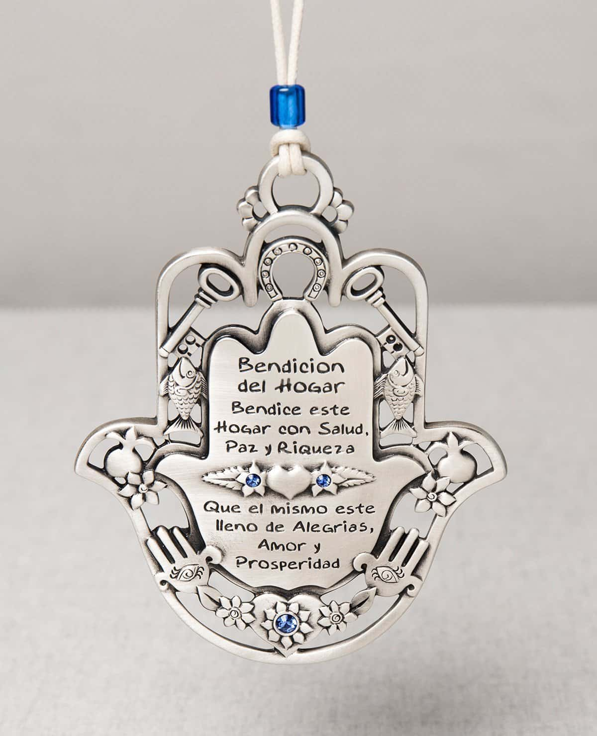 Home Blessing Hamsa with Motifs - Spanish