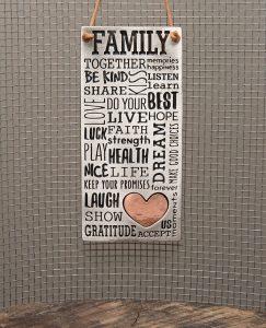 Family Dictionary Wall Pendant
