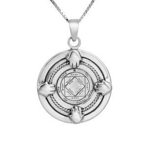 4 hands Victory & Achievement Seal (NO.35) Silver Pendant