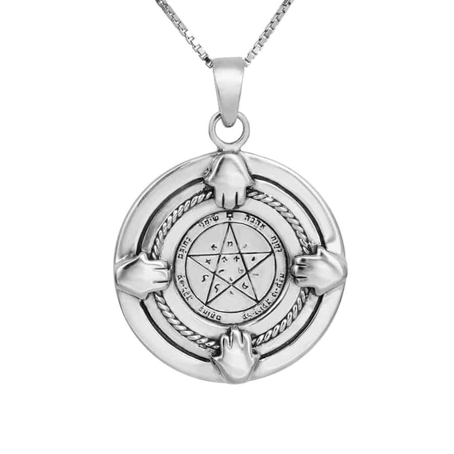 4 Hands Wishes Seal (NO.41) Silver Pendant